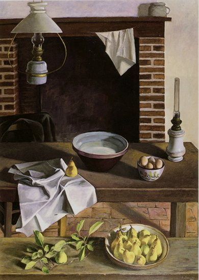 Henri Jannot - La table de la cuisine